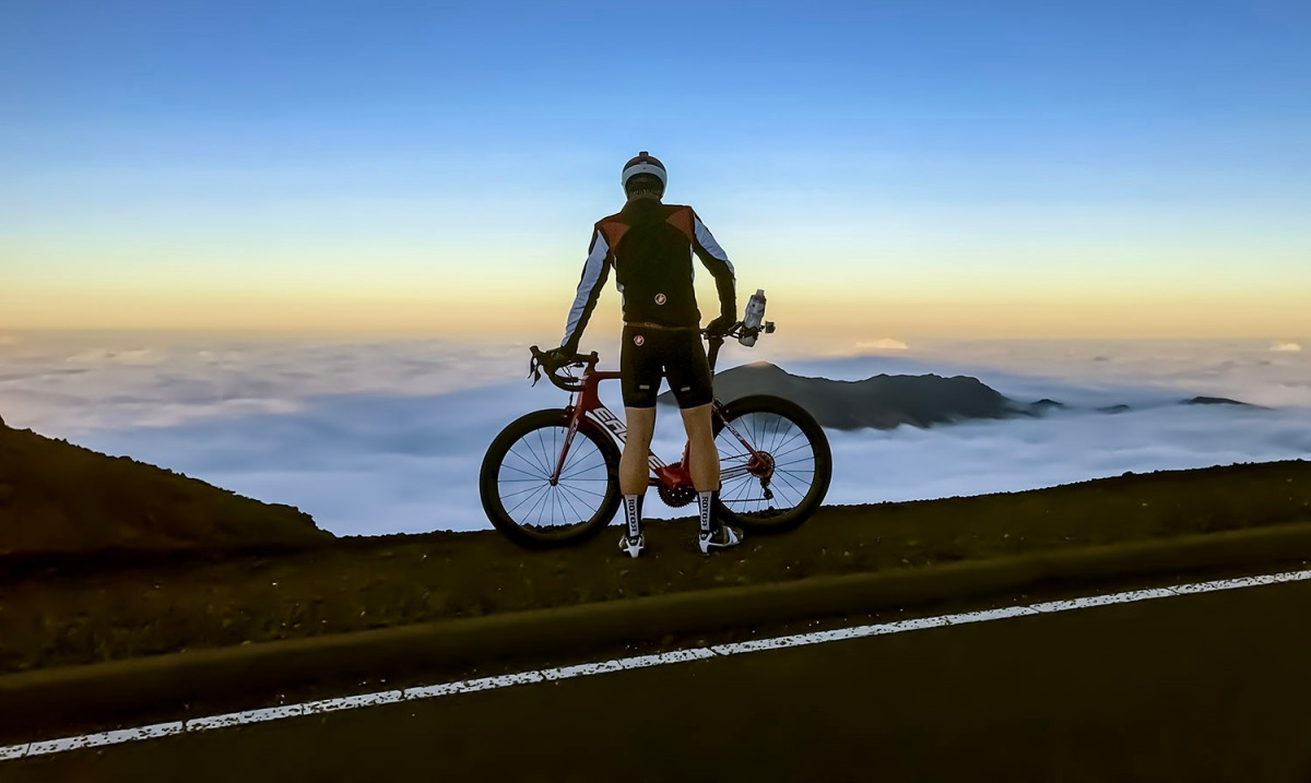 Jon Patrick Hyde at 9,800ft - The Crater of Mt. Haleakala