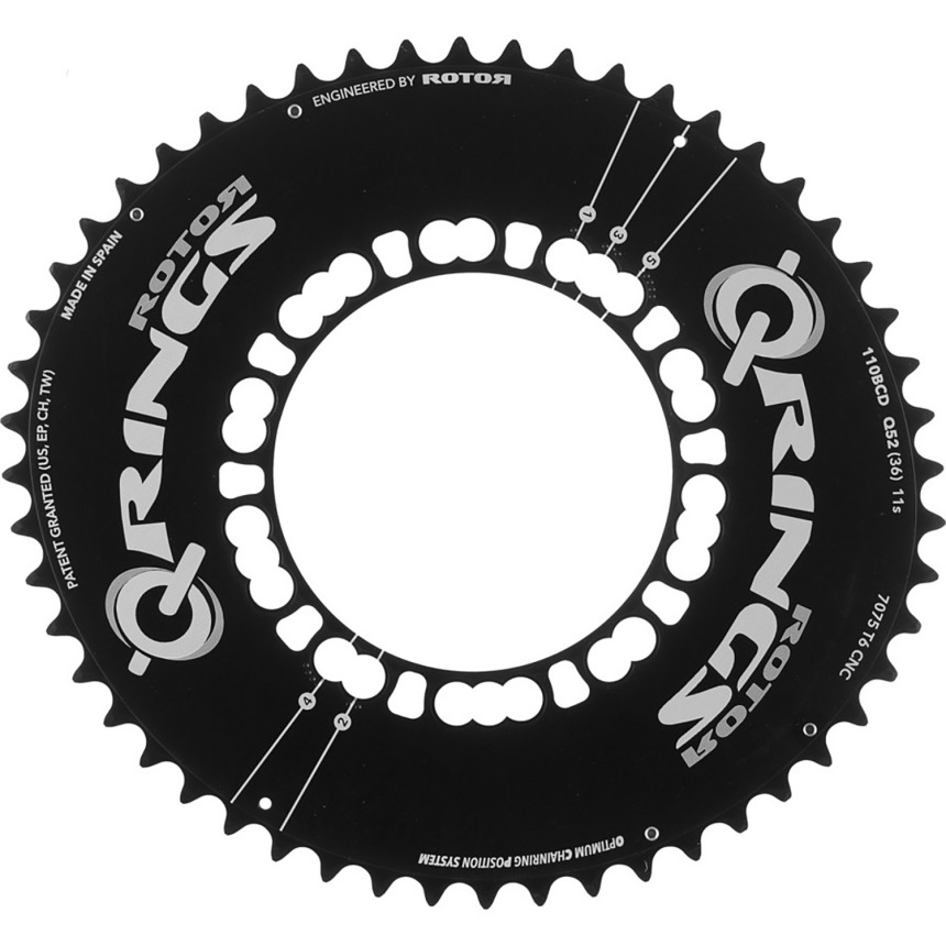 Rotor Q-Rings set the standard for oval bicycle chain rings.