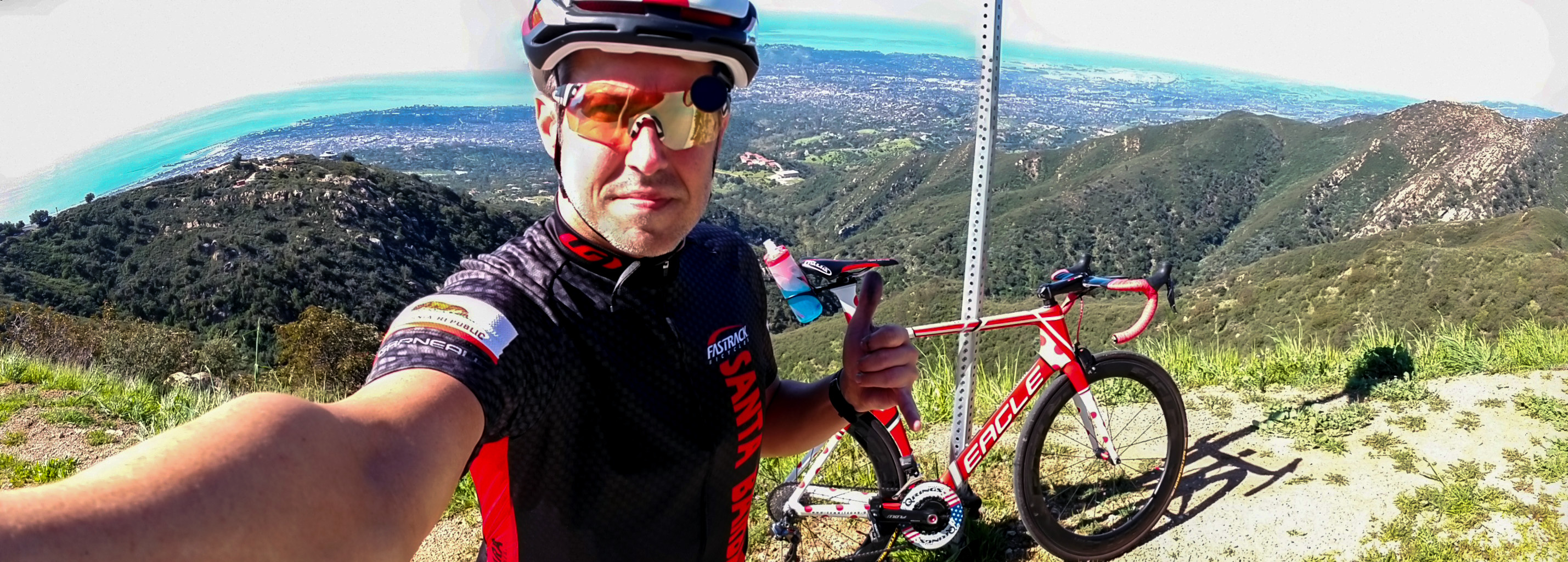 Summit4CAD Founder Jon Patrick Hyde on his Eagle Bicycles Z3 while climbing Gibraltar Rd in California