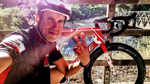 Jon Patrick Hyde on successfully completing 20,000 miles cycled in one year.